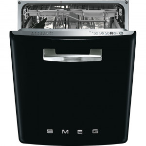 Smeg 60cm 50's Style Black Built-In Dishwasher DI6FABBL