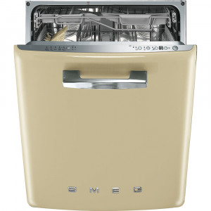 Smeg 60cm 50's Style Cream Built-In Dishwasher DI6FABCR