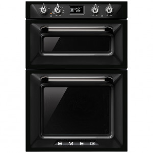 Smeg Victoria Built-In 60 Black Double Oven