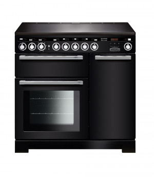 Rangemaster Encore Deluxe 90 Induction Black Range Cooker EDL90EIBL/C 117300