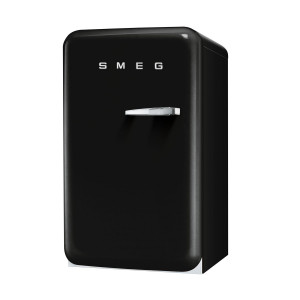 Smeg FAB10LNE 50's Retro Style Black Fridge with Ice Box