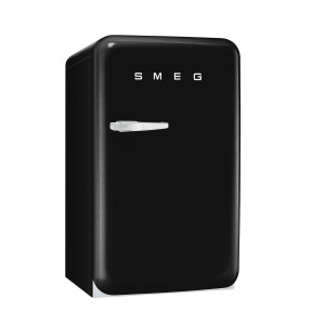 Smeg FAB10RNE 50's Retro Style Black Fridge with Ice Box