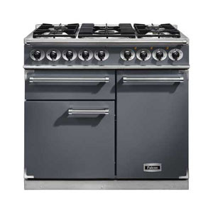 Falcon 1000 Deluxe Dual Fuel Slate Range Cooker with Matt Pan Supports