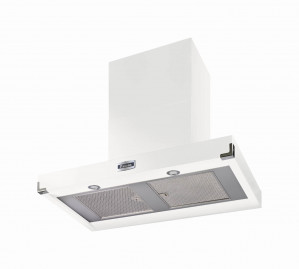 Falcon 900 Contemporary Ice White Nickel Cooker Hood