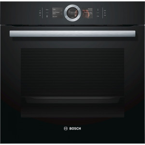 Bosch HBG6764B6B Serie 8 Black Pyrolytic Single Oven