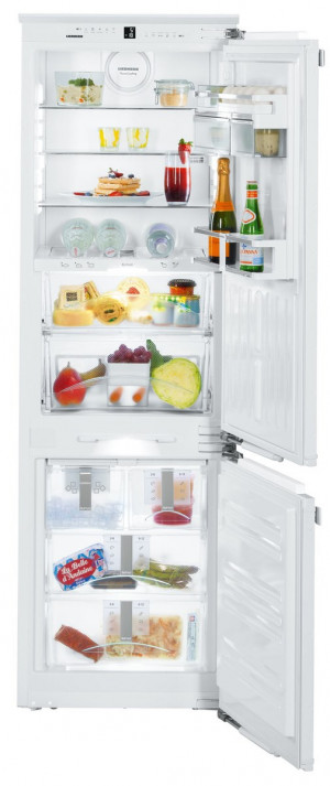 Liebherr ICBN3386 Built-In Premium BioFresh White Fridge Freezer