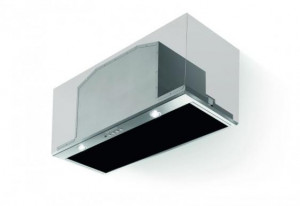 Faber Inca Lux Black Glass 70cm Stainless Steel Integrated Hood