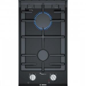 Bosch PRB3A6D70 30cm Black Domino Gas Hob