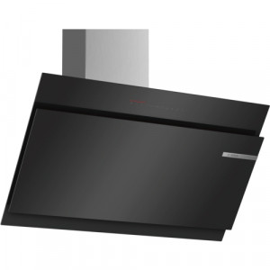 Bosch Serie 6 DWK97JQ60B 90 Angled Glass Black Chimney Hood