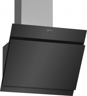 Neff N50 60cm Angled Black Glass Chimney Hood D65IHM1S0B