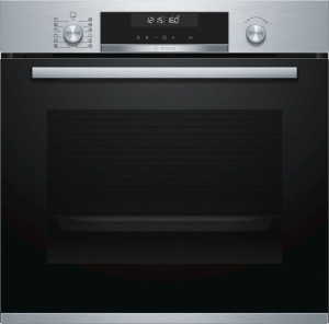 Bosch Serie 6 Brushed Steel Pyrolytic Single Oven HBA5780S0B