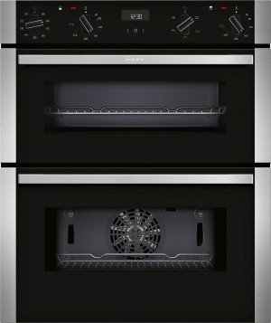 Neff N50 Black Built-Under Double Oven J1ACE2HN0B