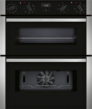 Neff N50 Black Built-Under Double Oven J1ACE4HN0B