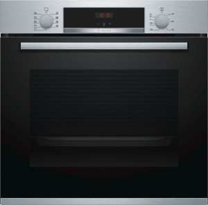 Bosch Serie 4 Brushed Steel Single Oven HBS534BS0B