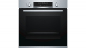 Bosch Serie 6 Brushed Steel Single Oven HBG5585S0B