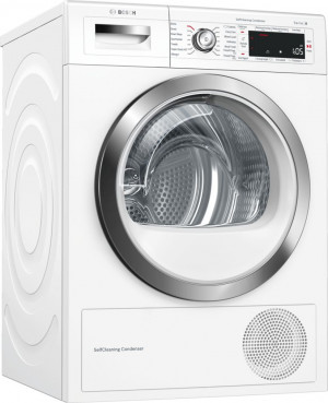Bosch Serie 8 WTWH7561GB Freestanding White Condenser 9kg A++ Rated Tumble Dryer