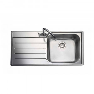 Rangemaster Oakland OL9851L/ Single Bowl Stainless Steel Sink Left