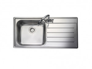 Rangemaster Oakland OL9851R/ Single Bowl Stainless Steel Sink Right