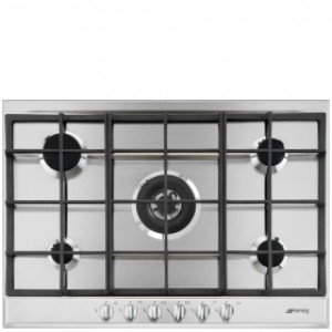 Smeg 72.5cm Selezione Stainless Steel 5 Burner Gas Hob P272XGH