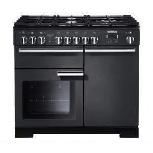 Rangemaster Professional Deluxe 100 Dual Fuel Slate Range Cooker PDL100DFFSL/C 105930