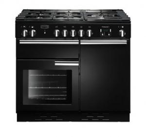 Rangemaster Professional Plus 100 Natural Gas Black Range Cooker PROP100NGFGB/C 111780