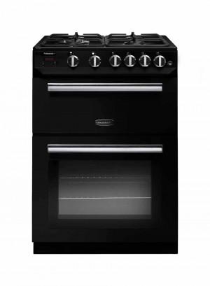Rangemaster Professional Plus 60 Gas Range Cooker Black/Chrome Trim