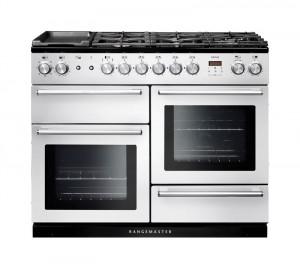 Rangemaster Nexus 110 Dual Fuel White Range Cooker NEX110DFFWH/C 106110