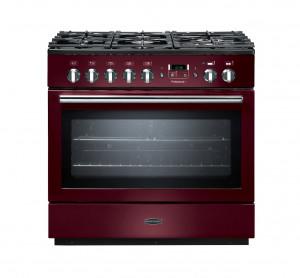 Rangemaster Professional Plus 90 FX Dual Fuel Cranberry Range Cooker PROP90FXDFFCY/C 91140