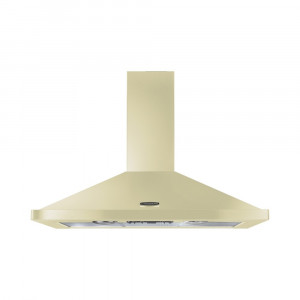 Rangemaster 90cm Chimney Cooker Hood Cream with Chrome Trim LEIHDC90CR/C 95580