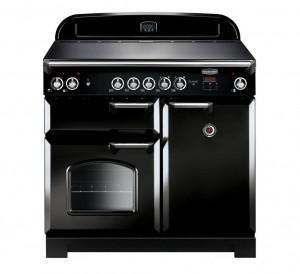 Rangemaster Classic 100 Induction Black Range Cooker CLA100EIBL/C 117120