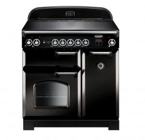 Rangemaster Classic 90 Induction Black Range Cooker CLA90EIBL/C 116940
