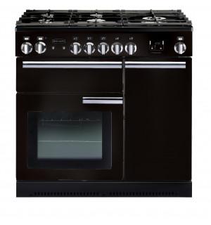 Rangemaster Professional Plus 90 Dual Fuel Black Range Cooker PROP90DFFGB/C 91630