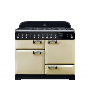 Rangemaster Elan Deluxe 110 Dual Fuel Cream Range Cooker ELA110DFFCR/ 118010