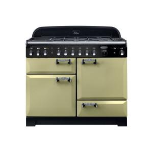 Rangemaster Elan Deluxe 110 Dual Fuel Olive Green Range Cooker ELA110DFFOG/ 118040