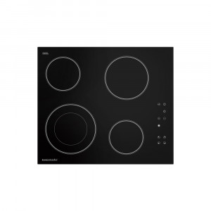 Rangemaster 60cm 4 Zone Black Glass Ceramic Hob RMB60HPECGL/ 112250