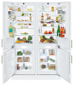 Liebherr SBS66I2 Premium Side-By-Side Built-In Fridge Freezer