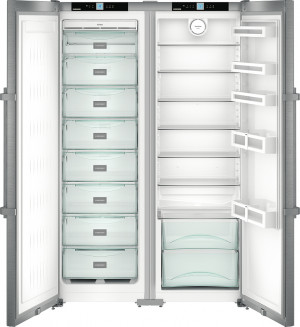 Liebherr SBSef7242 Side by Side Stainless Steel Food Centre Fridge Freezer