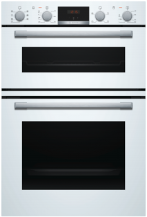 Bosch Serie 4 Built In Brushed Steel Double Oven MBS533BW0B
