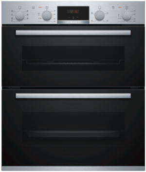 Bosch Serie 4 Built Under Brushed Steel Double Oven NBS533BS0B