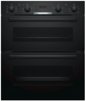 Bosch Serie 4 Built Under Black Double Oven NBS533BB0B