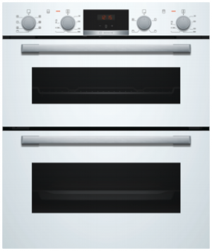 Bosch Serie 4 Built Under White Double Oven NBS533BW0B