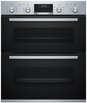 Bosch Serie 6 Built Under Brushed Steel Double Oven NBA5350S0B