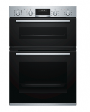 Bosch Serie 6 Built In Brushed Steel Double Oven MBA5575S0B