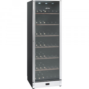 Smeg 60cm Classic Black & Stainless Steel Wine Cooler SCV115A