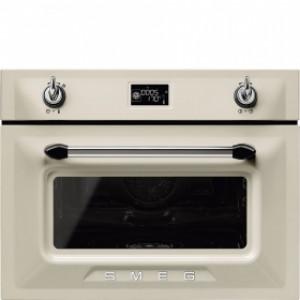 Smeg Victoria 60cm Cream Compact Combination Steam Oven SF4920VCP1