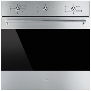 Smeg SF6341GVX Classic Built-In Gas 60 Stainless Steel Single Oven