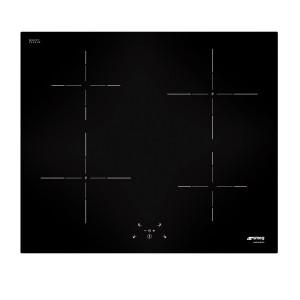 Smeg Cucina 60 Black Glass Induction Hob Straight Glass Edge