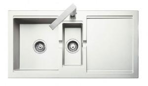 Rangemaster Cubix Granite White Sink
