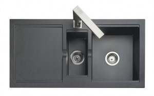 Rangemaster Cubix Granite Black Sink