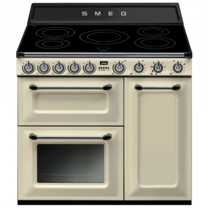 Smeg Victoria 90 Cream Induction Range Cooker
